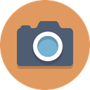 Camera, photography SandyBrown icon