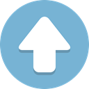 Up, Arrow SkyBlue icon
