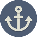 Anchor, nautical DimGray icon