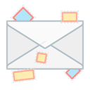 Communication, mail, envelope, Message, send, Letter WhiteSmoke icon