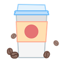 coffee to go, drink, cup, Coffee, beverage, Grain Black icon