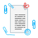 document, Clip, Page, sheet, Text, paper WhiteSmoke icon