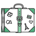 case, Baggege, suitcase, journey, Stickers, travel, travelling DarkSlateGray icon