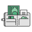 Money, travel, journey, checkout, wallet, Credit card, Cash Gainsboro icon