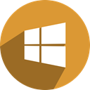 free, Social, network, media, phone, windows Goldenrod icon