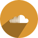 Soundcloud, media, Social, network Goldenrod icon