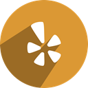 Social, Yelp, media, network Goldenrod icon