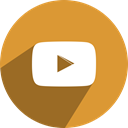 free, network, media, youtube, Social Goldenrod icon