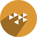 youtube, network, free, media, Social, gaming Goldenrod icon