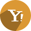 yahoo, free, network, media, Social Goldenrod icon