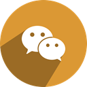Social, network, media, Wechat, free Goldenrod icon