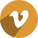 v, Vimeo Goldenrod icon