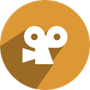 network, free, media, Viddler, Social Goldenrod icon