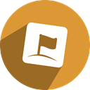 Social, zorpia, free, network, media Goldenrod icon