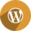 Wordpress, network, media, Social Goldenrod icon