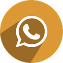 Whatsapp, network, Social, media, free Goldenrod icon