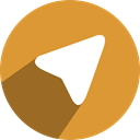 media, telegram, network, free, Social Goldenrod icon