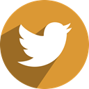 media, Social, twitter, network Goldenrod icon