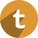 Social, network, Tumblr Goldenrod icon