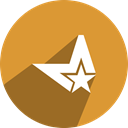star, M, Metacafe, m*, m star Goldenrod icon