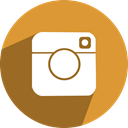 free, Instagram, network, media, Social Goldenrod icon
