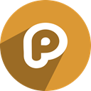 Plurk, P Goldenrod icon
