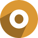 media, network, Social, free, Orkut Goldenrod icon