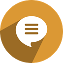 free, messageme, media, network, Social Goldenrod icon