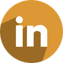 network, media, Linkedin, free, Social Goldenrod icon