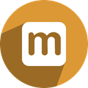 Social, network, free, media, maaii Goldenrod icon