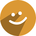 Social, network, media, free, meetme Goldenrod icon