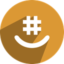 Groupme, Social, media, network Goldenrod icon