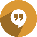 free, Social, Hangouts, media, network Goldenrod icon