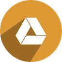 network, media, Googledrive, Social, free Goldenrod icon