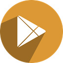 google store, store, googleplay, google play, google, play Goldenrod icon