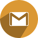 free, Social, network, media, gmail Goldenrod icon