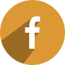 media, F, Facebook, network, Social, Face, Book Goldenrod icon