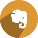 Social, network, free, media, Evernote Goldenrod icon