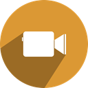 media, Social, network, facetime, free Goldenrod icon