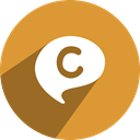 on, C, chat on, Chat Goldenrod icon