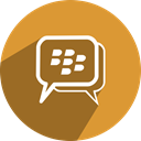 Bbm, media, Social, network, free Goldenrod icon