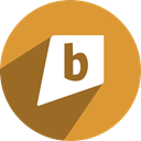 kite, Brightkite, B, Bright Goldenrod icon