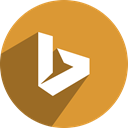 network, free, Bing, Social, media Goldenrod icon