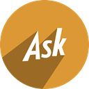 Ask, media, network, Social Goldenrod icon
