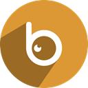 Badoo, Eye, B, b eye Goldenrod icon