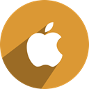 Social, Apple, free, media, network Goldenrod icon