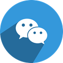 Chat, we, Social, Conversation, media, Wechat, network DodgerBlue icon