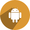 network, Social, media, Android, free Goldenrod icon