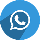 media, Tel, number, Social, network, Whatsapp, telephone DodgerBlue icon