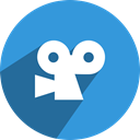 Viddler, free, network, media, Social DodgerBlue icon